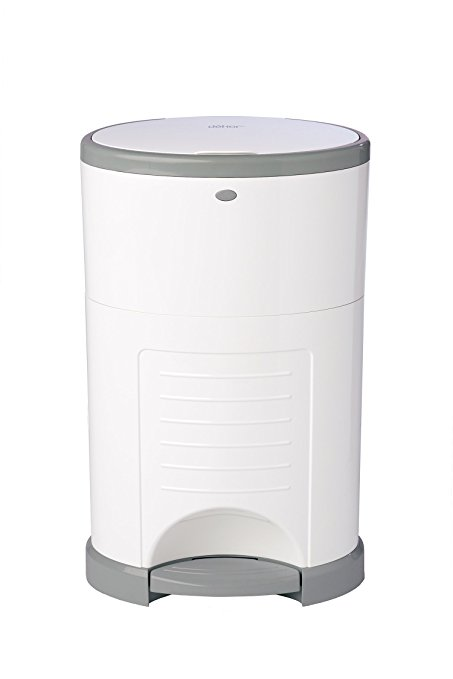 Diaper pail - white with grey edging